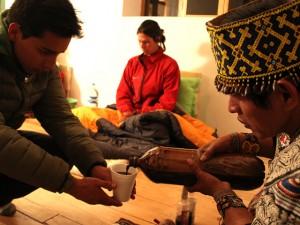 Shaman Pouring Ayahuasca
