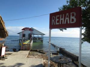 The Infamous Rehab bar on the island of Utila