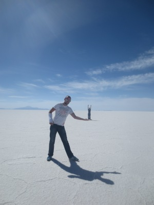 The Famous Salt Plains (not to scale!)