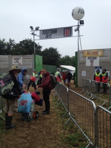 Glastonbury Entrance 2014