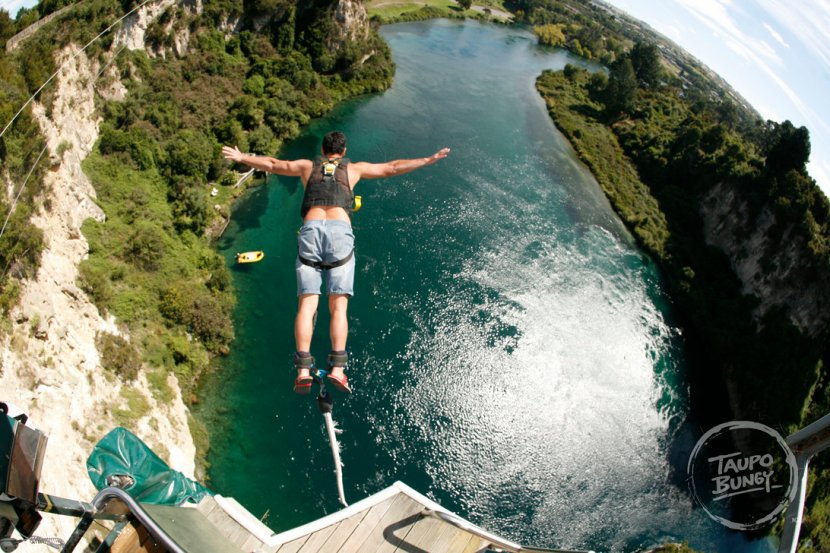 Bungee Jumping in Lake Taupo, New Zealand