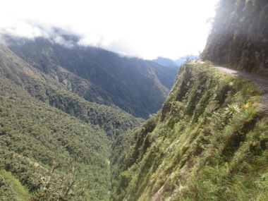 Death Road - Bolivia. Incredibly scary and for good reason. Scene of my accident where I broke and dislocated my wrist.
