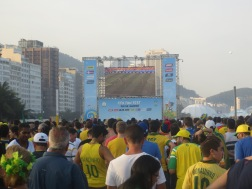 Rio de Janeiro - Brazil. Fifa Fan Fest for World Cup 2014. Incredible atmosphere right on Copacabana beach
