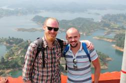 Guatepe - Colombia. My buddy and I enjoying the incredible views just outside Medellin