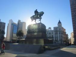 Montevideo - Uruguay. Plaza Independencia on a hungover morning of a wild weekend with friends