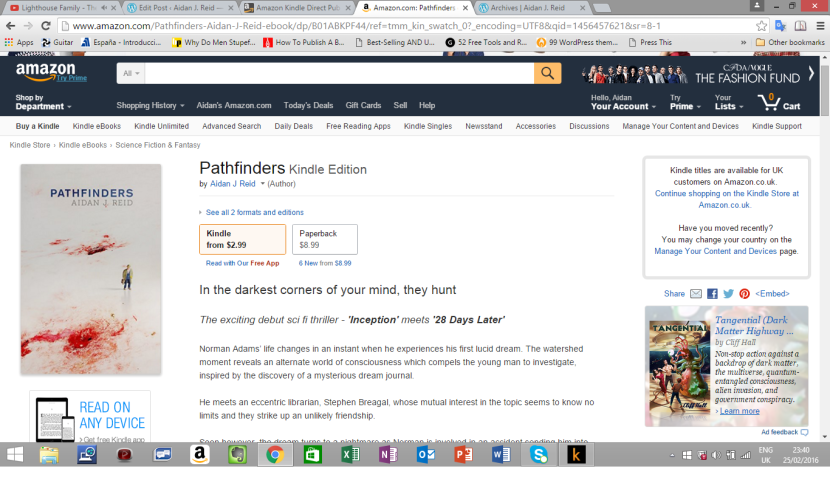 Pathfinders (Chapter 1), Goodreads and Mopping Up