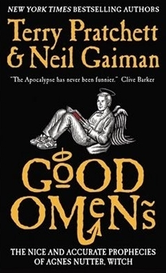 good omens books cover neil gaiman terry pratchett