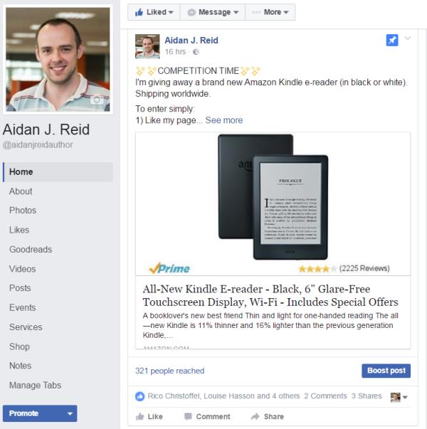Kindle eReader Aidan J Reid